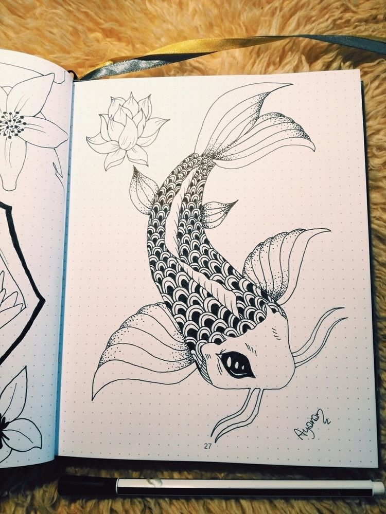 Koi Fish practice, drawn Pinter - artsyayana | ello