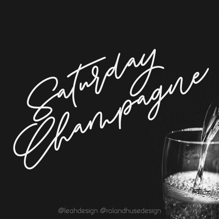 SATURDAY CHAMPAGNE monoline mod - rolandhuse | ello