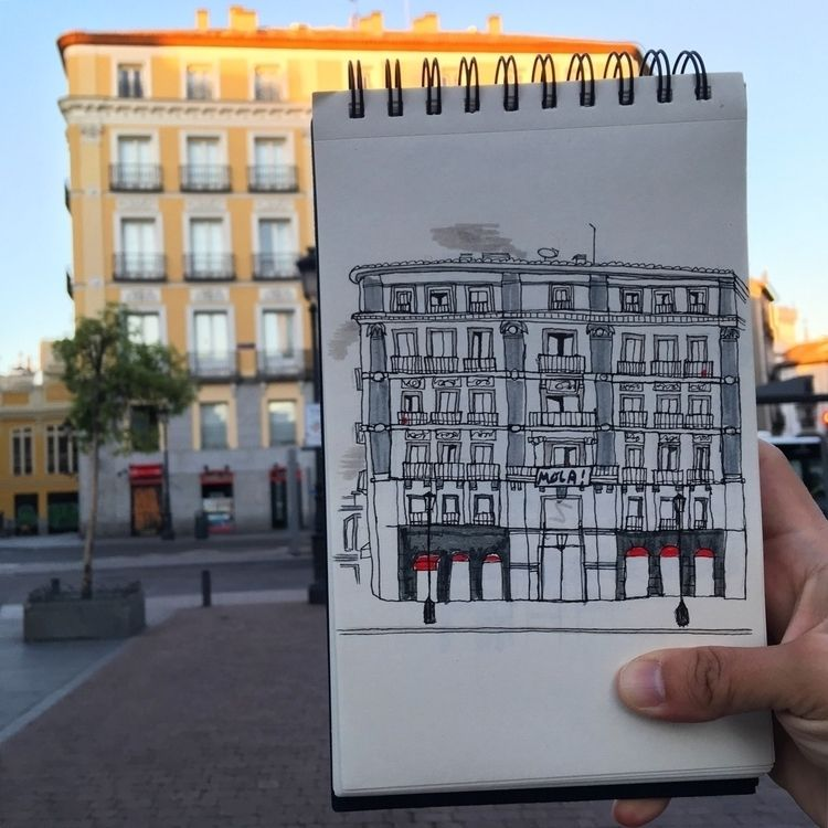 Urban morning - Madrid, plazajacintobenavente - antoniofse | ello