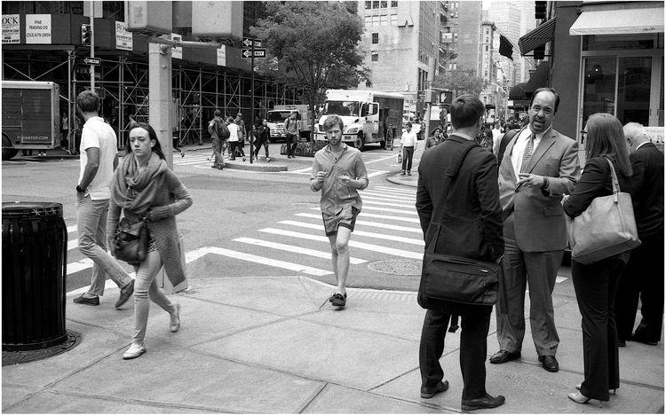 York Street Chat - film, streetphotography - michaelfinder | ello
