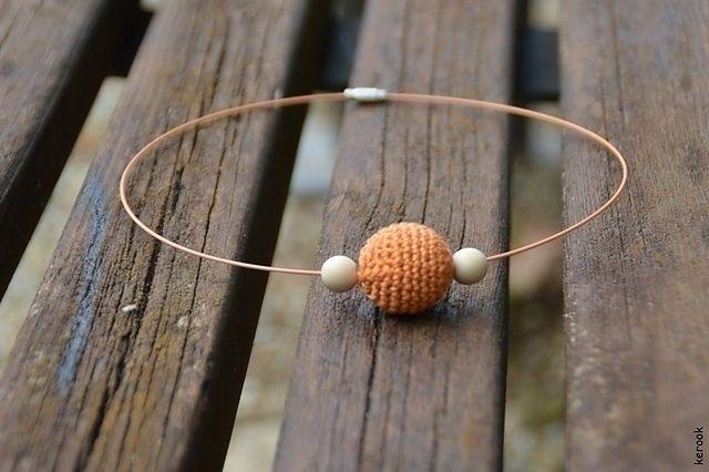 necklace. wood beads, cotton. l - kerook | ello