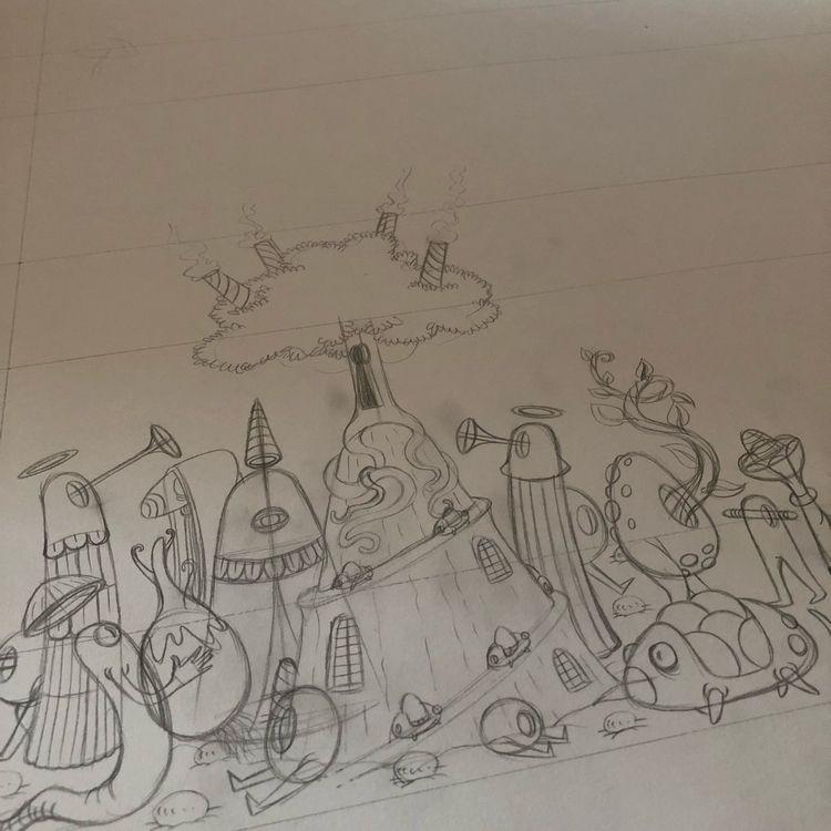 Starting big - illustration, wip - jimmy-draws | ello