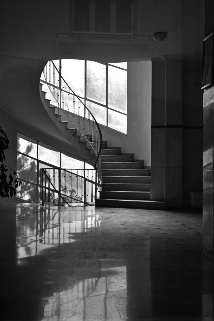 bnw#architecture#entrance, spiral#blackandwhitephotography - a2toz | ello