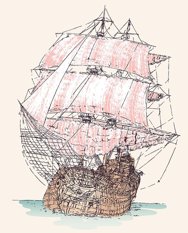 masted tall ship, exploring wor - grabbo | ello