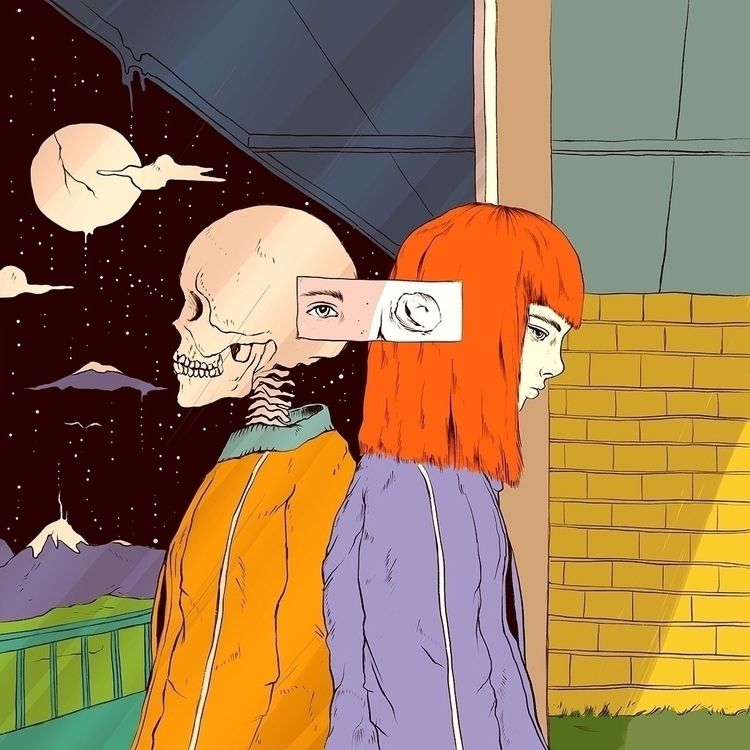 Haunting Reflection - illustration - normanduenas | ello