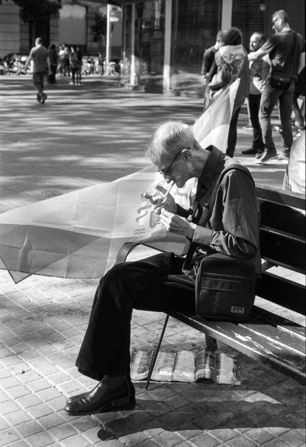 Catalunya strike independance - analogphotography - peterhphotography | ello