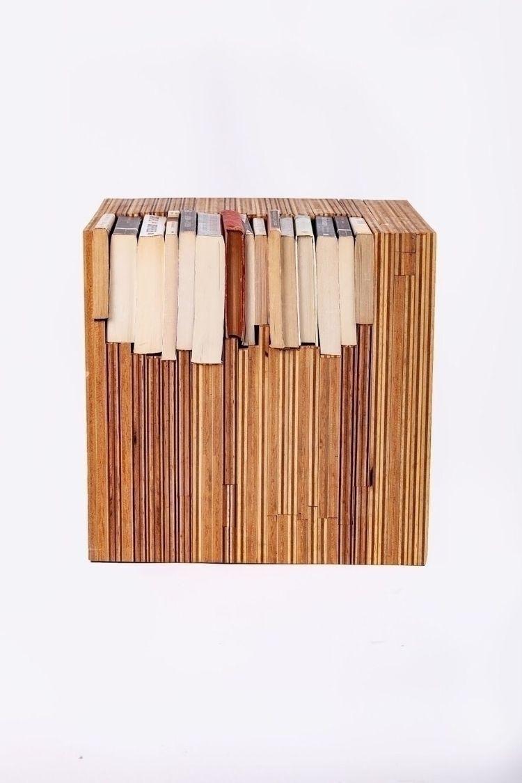 sidetable, reading, plywood, endgrain - brickandbridge | ello