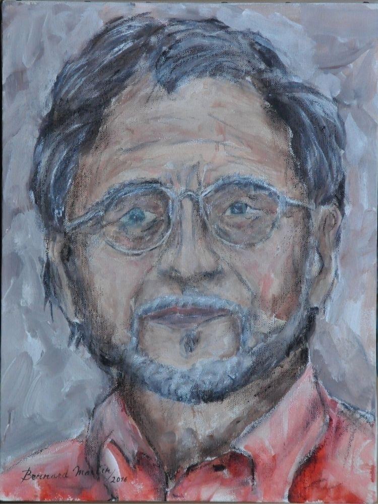 portrait 2016 Acrylic charcoal  - ben-peeters | ello