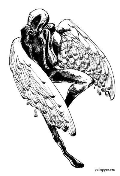 worried angel - krita, peileppe - peileppe | ello
