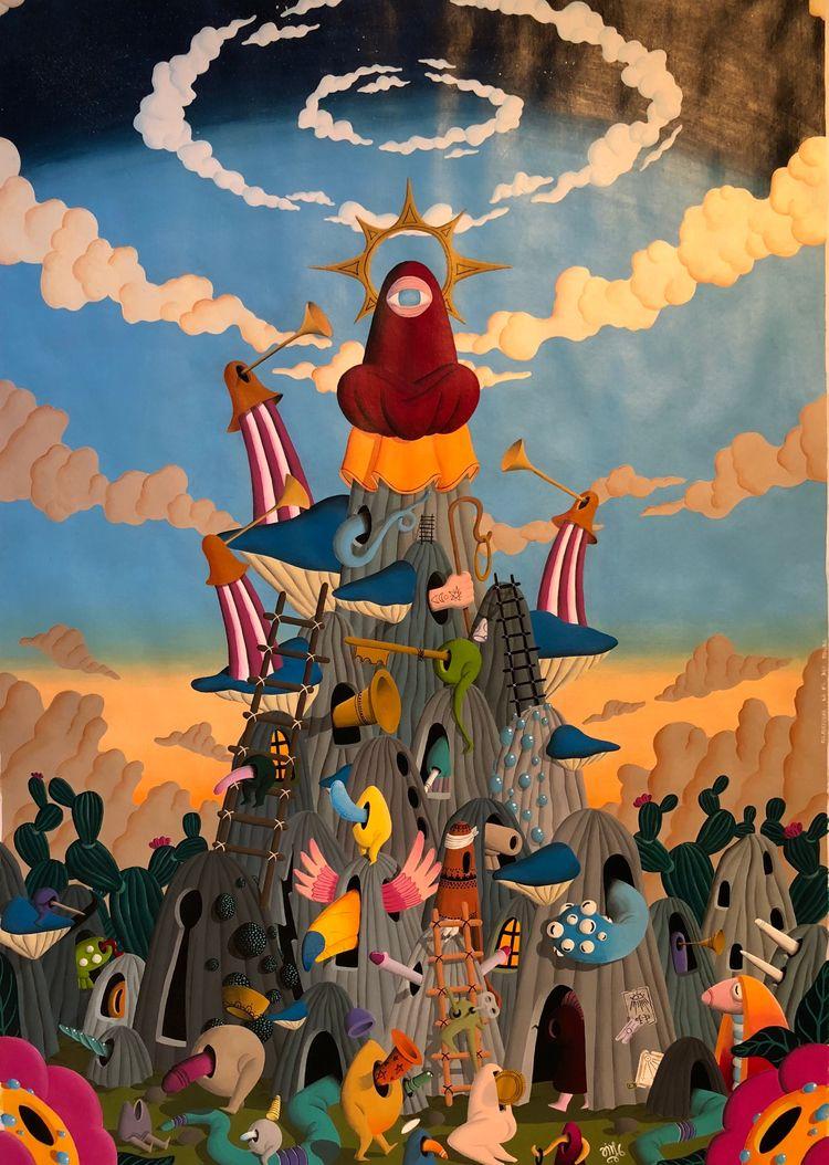 French surrealist painter, base - jimmy-p   ello