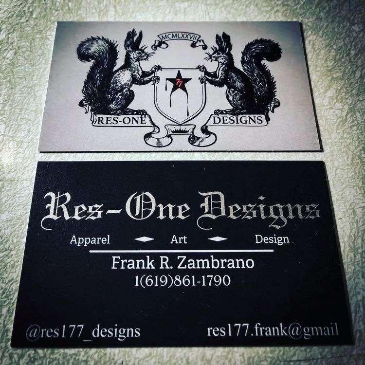 business cards updated logo - resone77 | ello