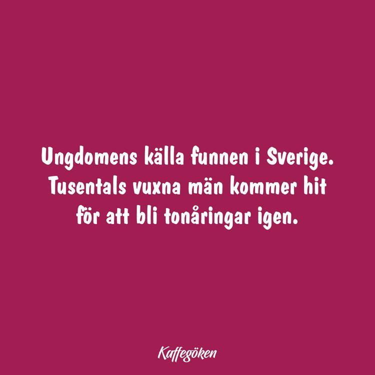 Ungdomens källa funnen Sverige - kaffegoken | ello