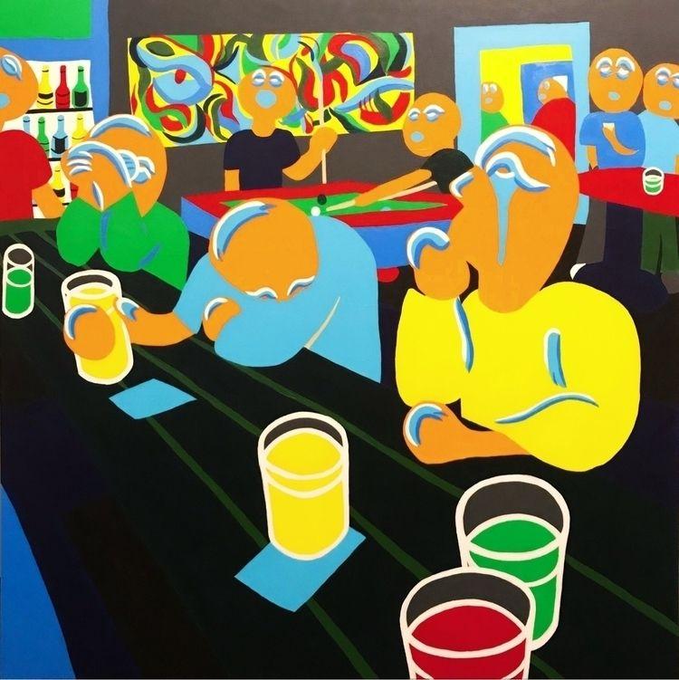 """Eyes 36""""x36"""" Acrylic Canvas  - art - parchpak   ello"""