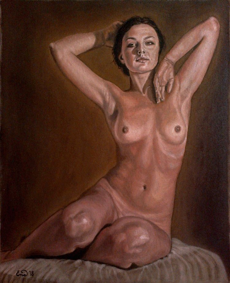TIME Oil canvas 44x55cm SALE - nudepainting - enavarsavikova | ello