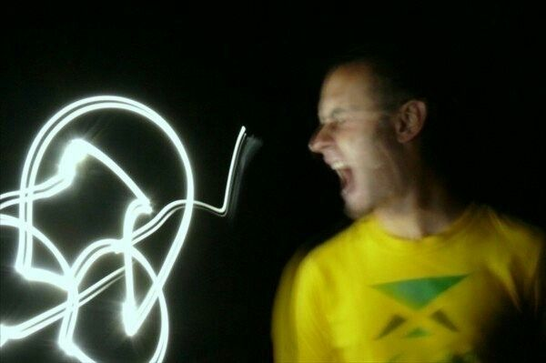 portrait, lightpainting - juntavirus | ello