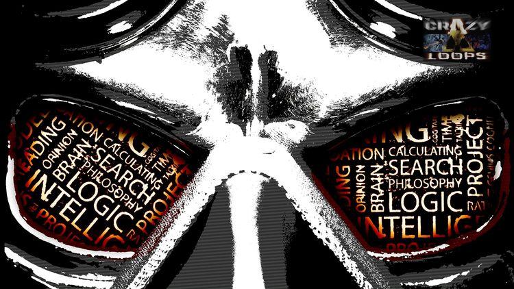 Rage Mask Orange Text Mix - mask - crazy_loops | ello