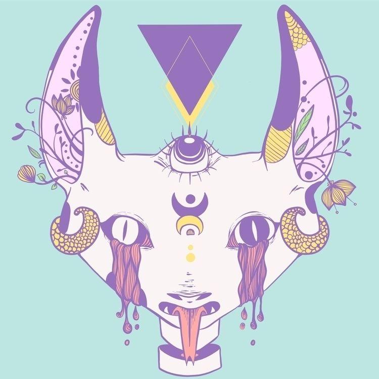 Drew Weirdo cat doodle eye geom - cellsdividing | ello