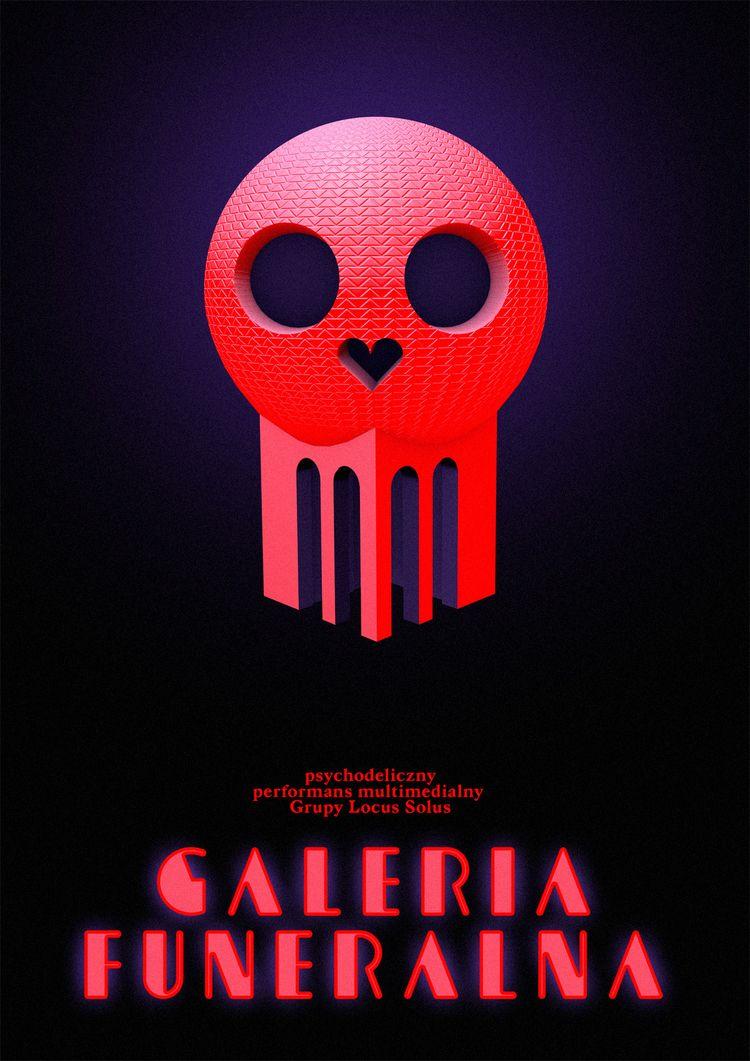 funeral gallery poster - neon, death - victorsoma | ello