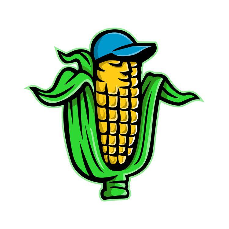 Corn Cob Baseball Hat Mascot - CornonCob - patrimonio | ello