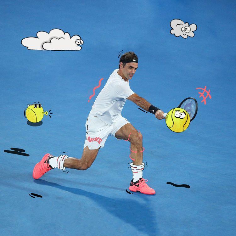 Wimbledon watching Roger Federe - jamiekirk | ello