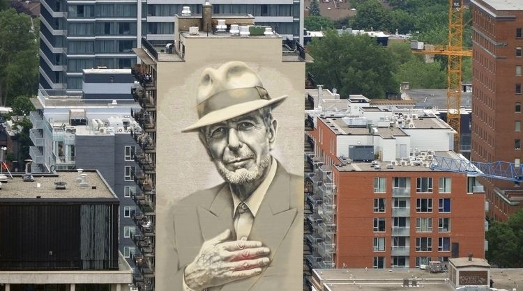 Leonard Cohen mural, Montreal.  - koutayba | ello