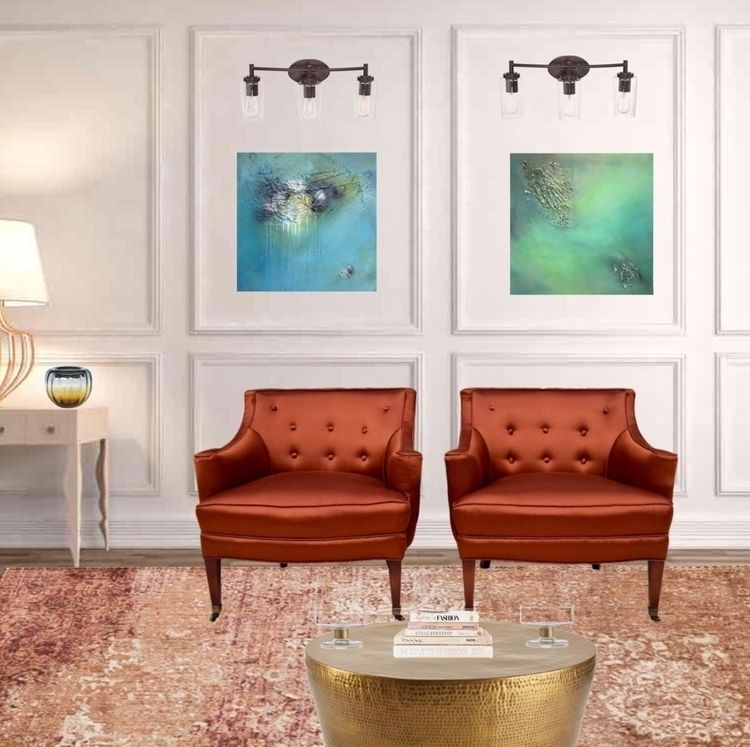abstract paintings nice setting - gallery3212   ello