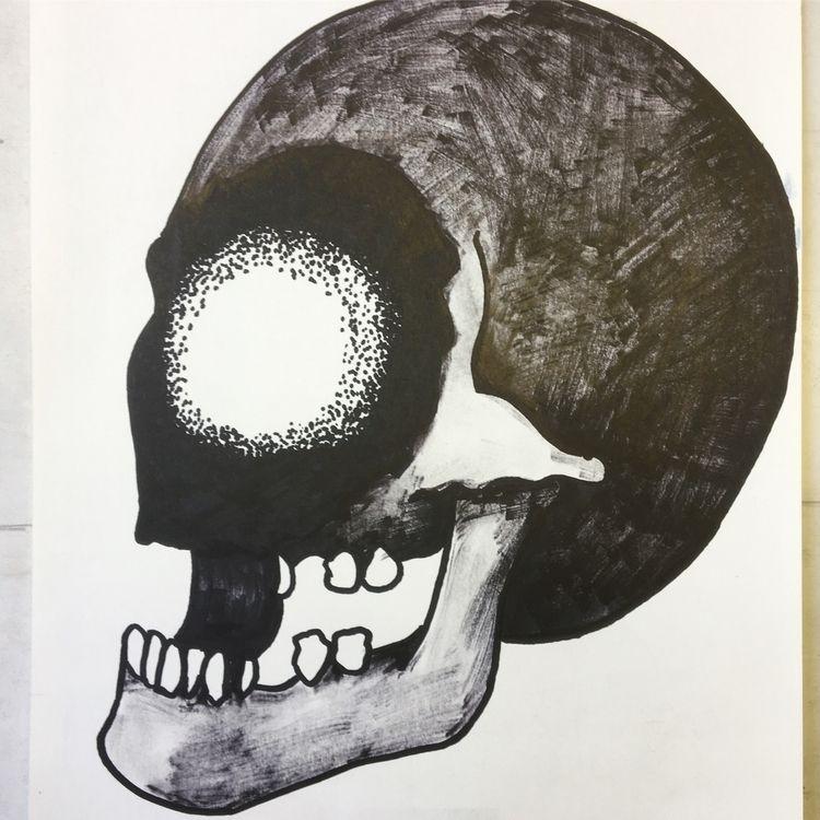 'Abyss Face' - skull 3 - skulldrawing - donorbrain | ello