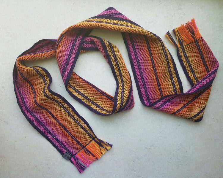 Cotton Scarf - handwoven, brightcolors - annabweaving | ello