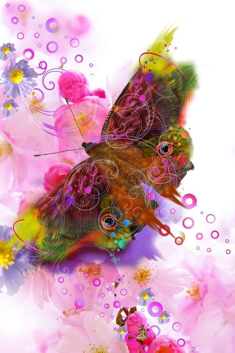 butterfly, photoillustration - lobber66   ello