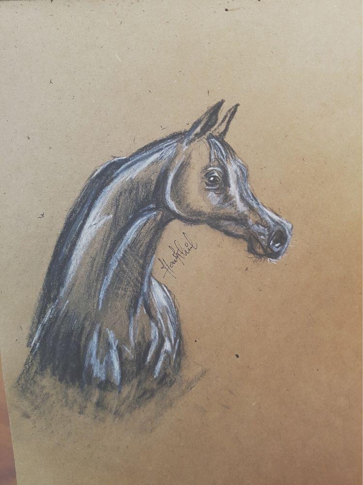 Quick charcoal sketch brown pap - nerdfinger | ello