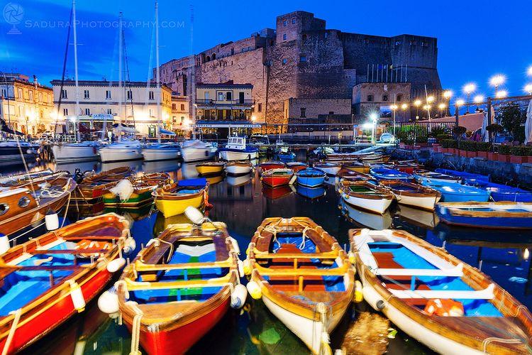 Colorful boats Castel dell'Ovo  - hsphotos | ello