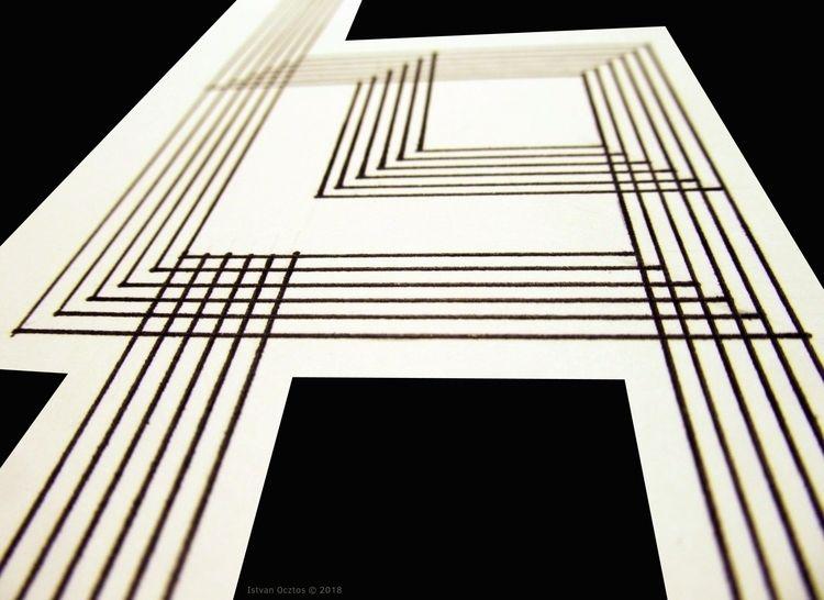 Lines Paper Digitalized photo c - istvanocztos | ello