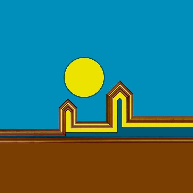 Line Houses Yellow Sun Digitali - istvanocztos | ello