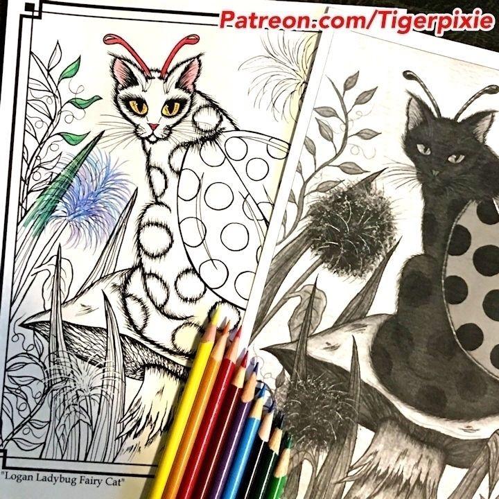 :smiley_cat::beetle:July Patreo - tigerpixie | ello