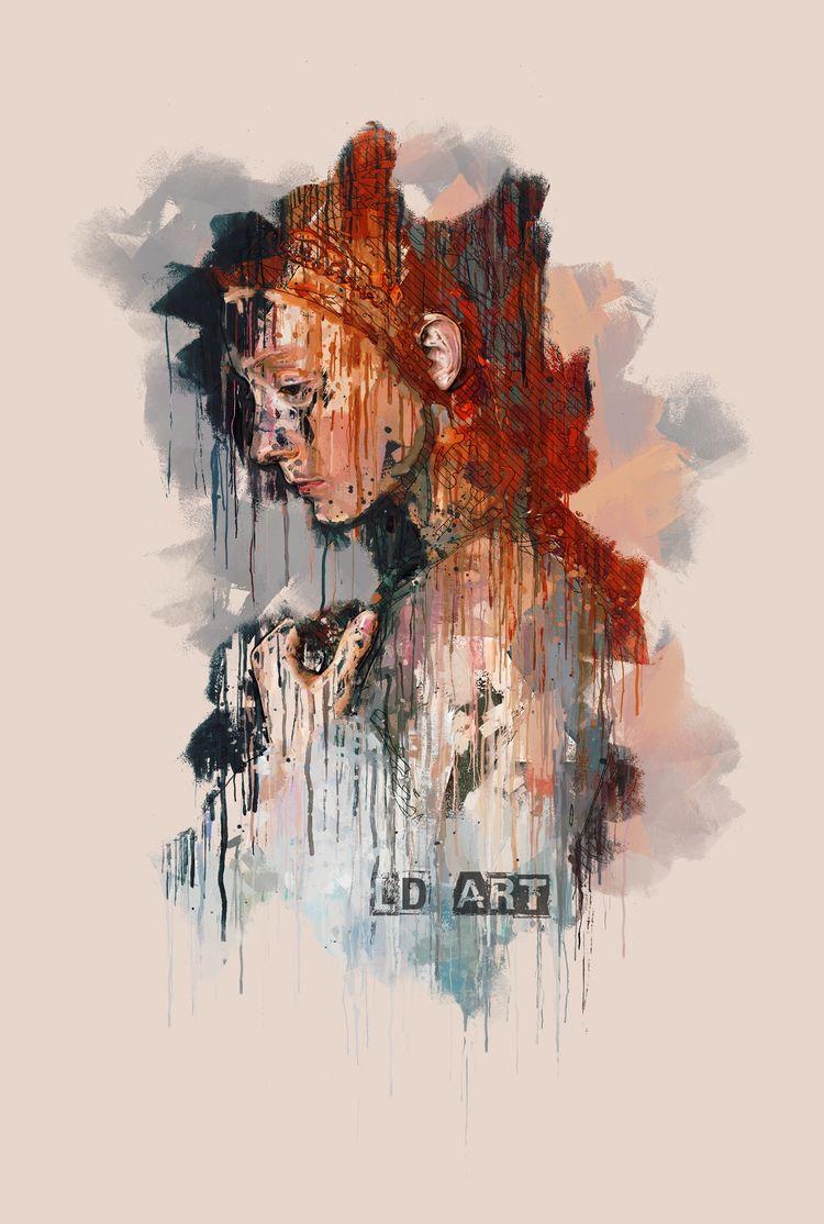 thinking bain life. artists ALO - lucydyerart   ello