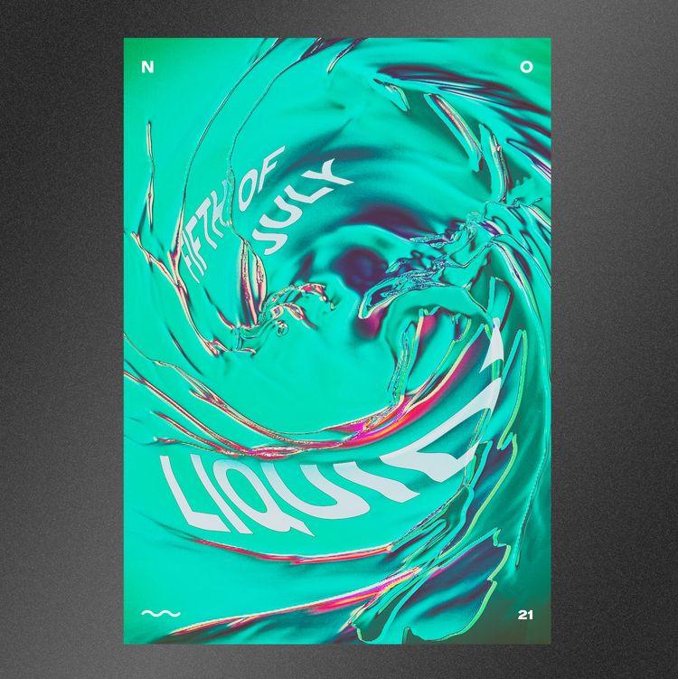 LIQUID - posterdesign, graphicdesign - nakhon   ello