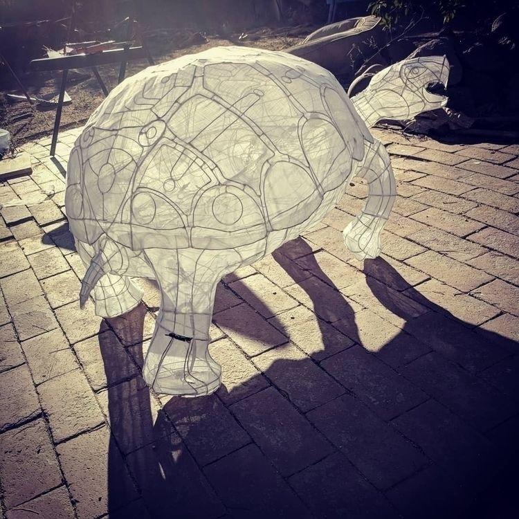 brazed wire lantern, desert tor - myklwells | ello