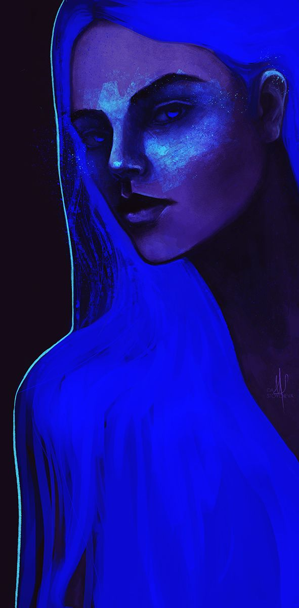"""Night"" Digital Portrait - idastoycheva 