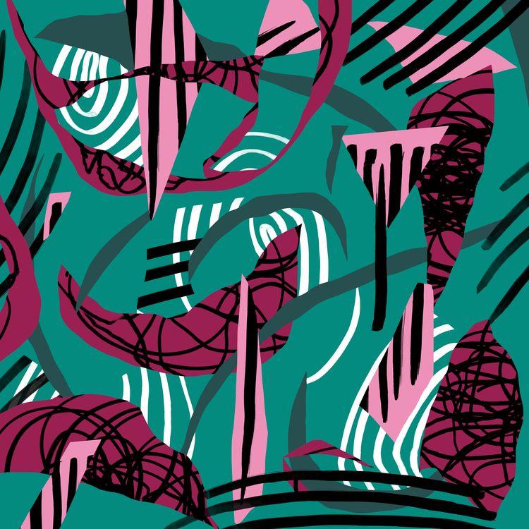 cutouts, lines, colors, shapes - catrielmartinez | ello