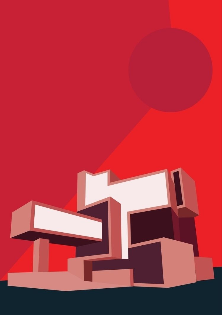 Red Architecture 2018 Print sal - martinaa | ello
