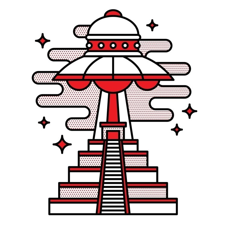 UFO - ufo, alien, illustration, design - champnyc | ello