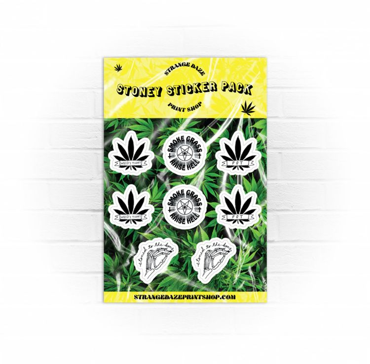 Strange Daze Stoney Sticker Pac - strangedazeprintshop | ello