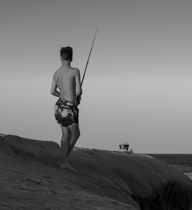 fishing boy - pesca, pescador, fisher - natxodiego | ello