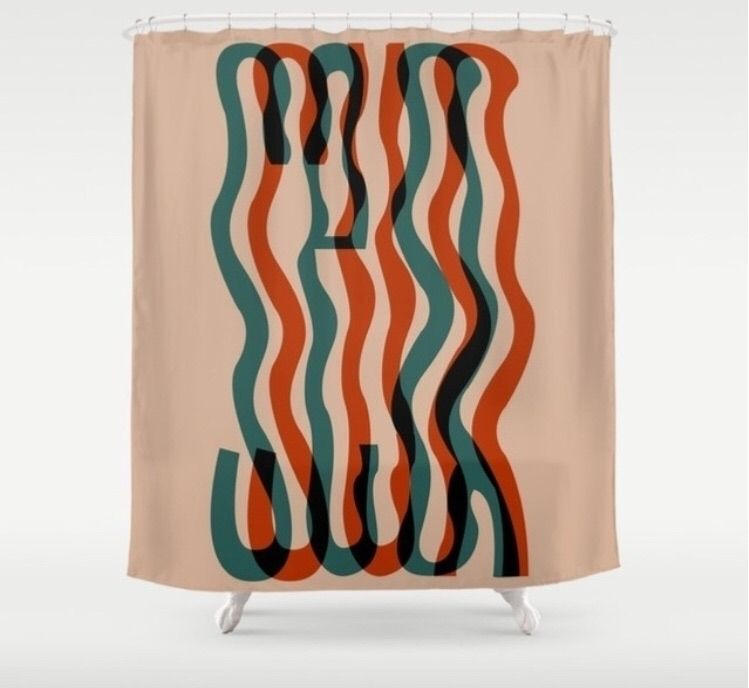 Wavy baby shower curtain - studiolcy | ello