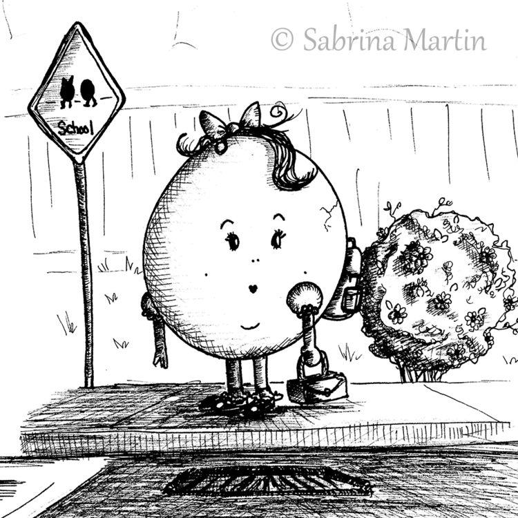Brave Egg! Fine line drawing pe - sabrinam | ello