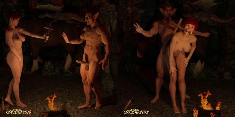 nsfw, devil, sex, nude, hobbit - franklange | ello
