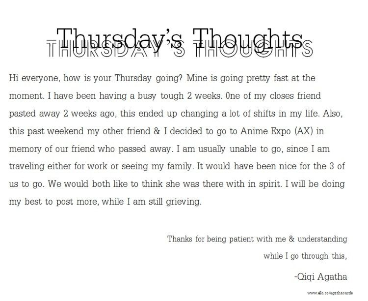 Happy Thursday/Friday!! Thought - agathacards | ello