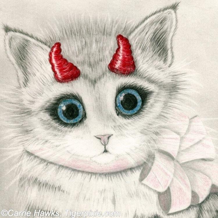 :heart:️Little Red Horns:heart - tigerpixie | ello