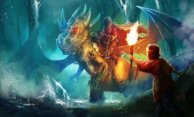 Art - Digital, Dragon, mask, man - francismonge   ello