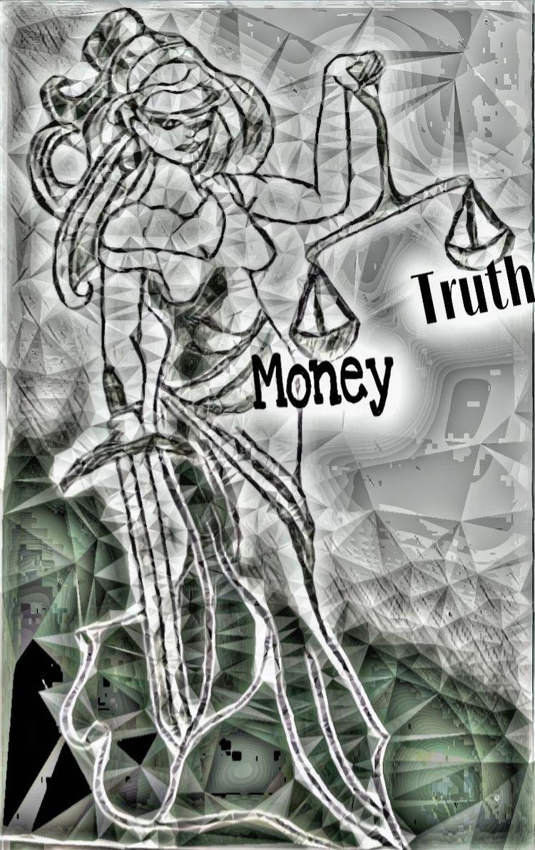 Lady Justice blind. Truth thwar - stashism | ello